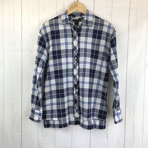 J. Crew Blue And White Plaid Shirt Size XS
